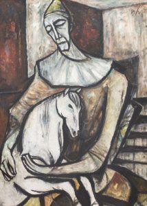 Vincent hložník klaun s koníkom